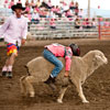 Mutton Bustin', a favorite at MT rodeos