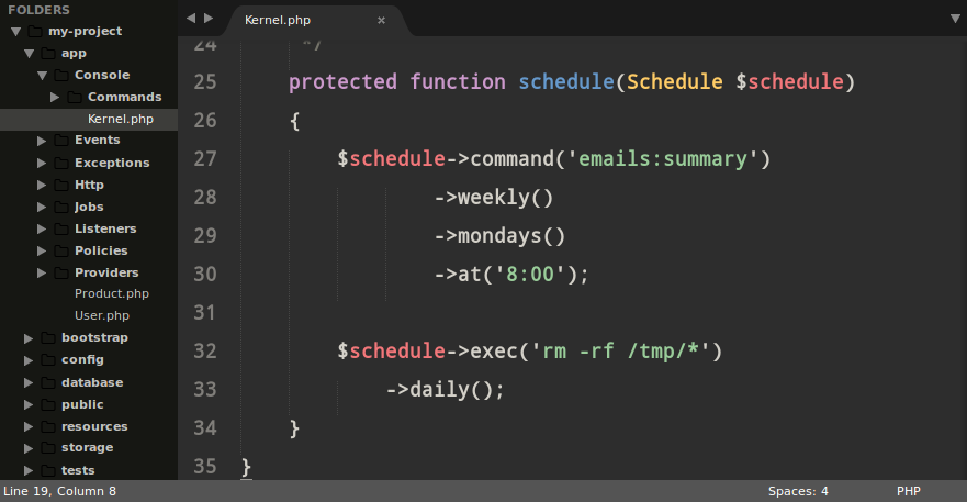 Scheduled Jobs in Laravel