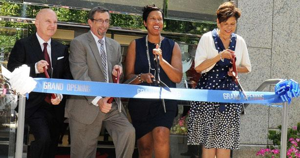 Ribbon Cutting for DDS D.C. Mayor Muriel Bowser Deputy Mayor for Health and Human Services Brenda Donald Andrew Reese, Interim Director of the Department on Disability Services Jonathan Kayne, Chief Operating Officer for the Department of General Services
