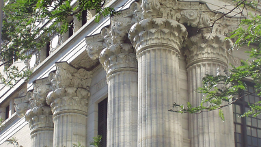 Picture of NYS Education Building columns