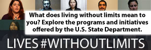 Learn how U.S. Department of State exchange programs are inclusive for all, including persons with disabilities. #WithoutLimits