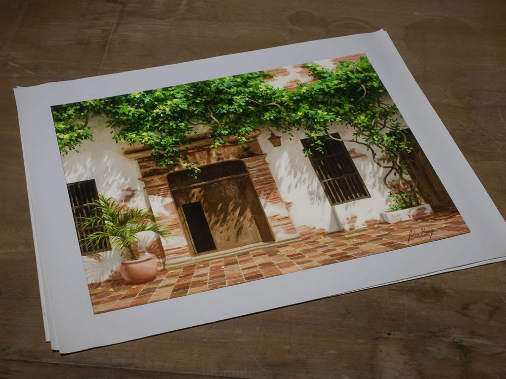 Spanish Tiles, Limited Edition Print
