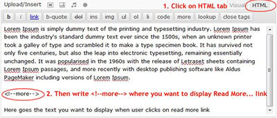 How to add read more link in wordpress post