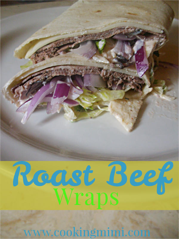 Roast Beef Wraps for a picnic #SundaySupper