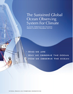 Cover page              of Ocean Climate Observation Program Brochure