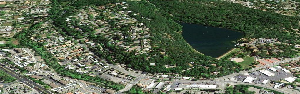 Lake Ralphine / Santa Rosa aerial