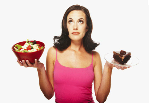 woman with how to lose weight fast foods