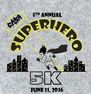 CASA 2016 SuperHero 5k T WEB CASA 2016 SuperHero 5k T-shirt Design