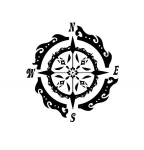 Black-Ink-Compass-Tattoo-Designs