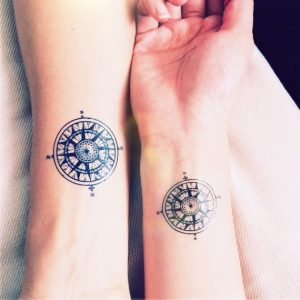 Couple-Compass-Tattoos-Design-3