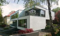 Architektenhaus Flachdach modern