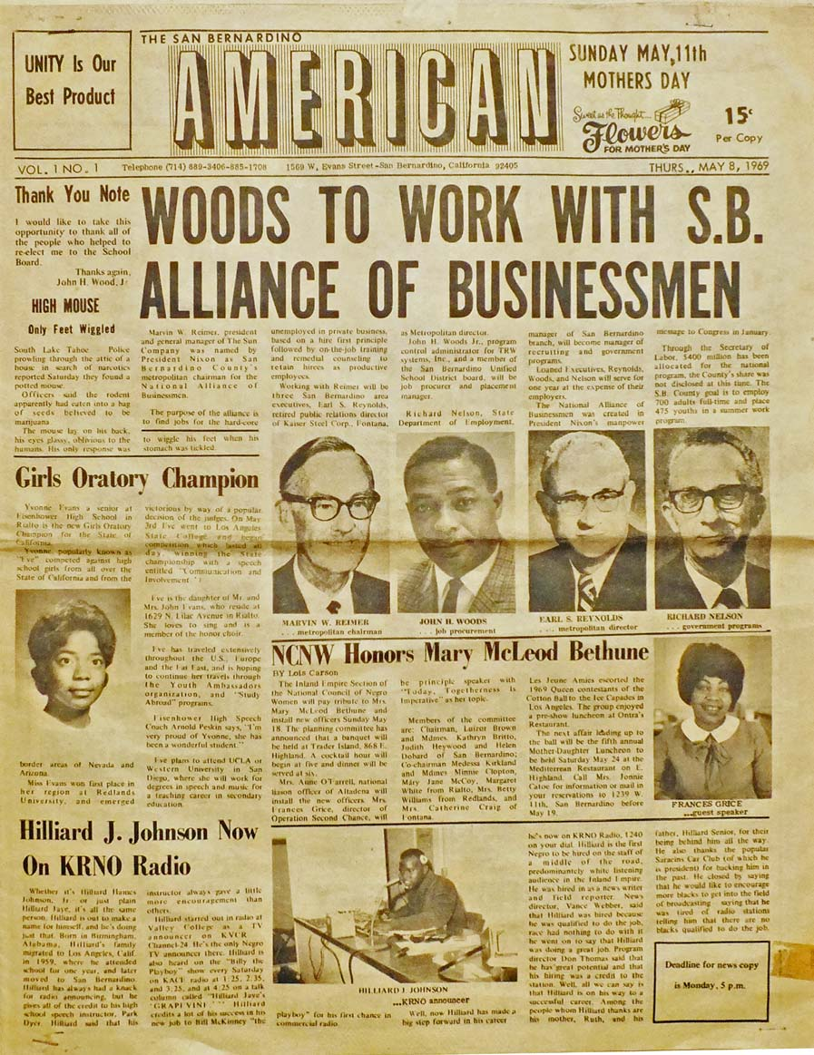 First Edition of The San Bernardino American News 1969