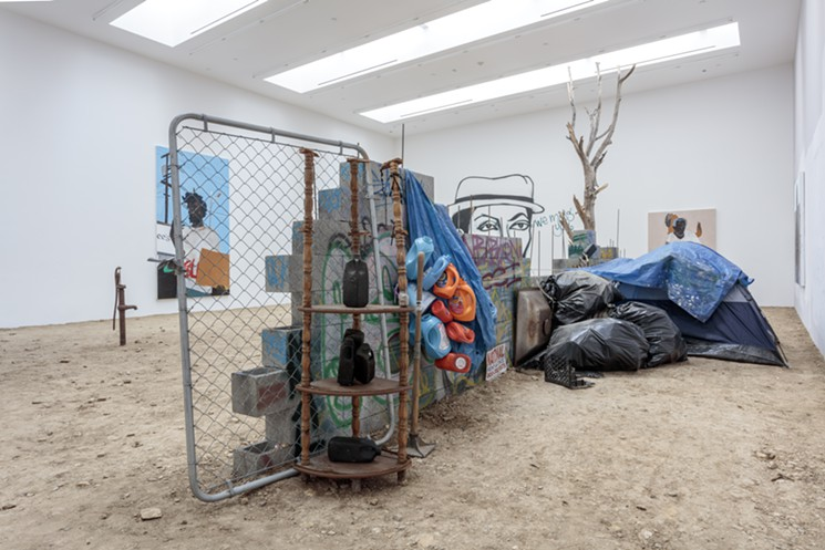 """View of """"Henry Taylor"""" at Blum & Poe."""