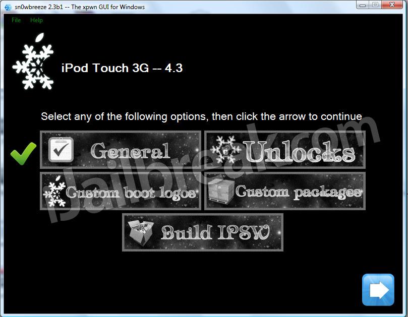 Tutorial: jailbreak untethered a iOS 4.3.1 con Sn0wbreeze (Windows) (Custom Firmware)