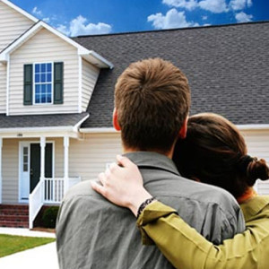 FHA Loan approved mortgage family looking at new home