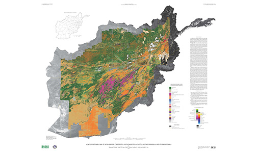 map of Afghanistan minerals