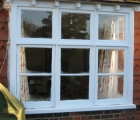 new wooden window