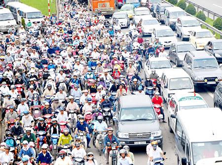Dân số đông là nguyên nhân của tắc đường
