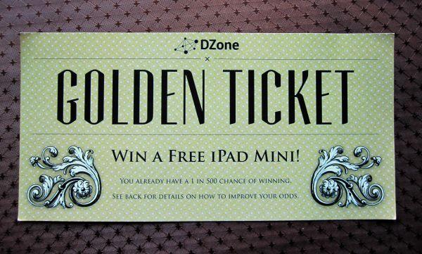iPad Mini Golden Ticket
