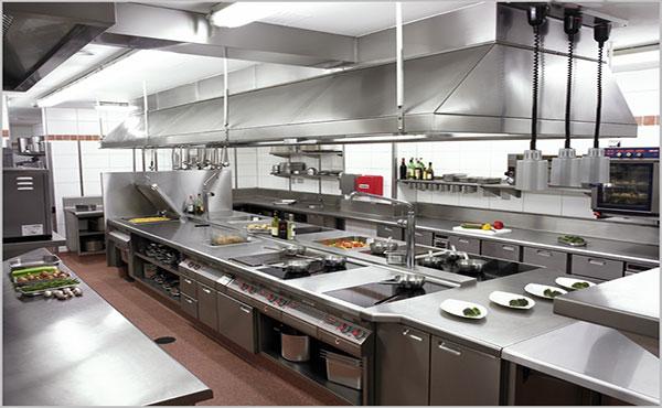 Hệ thống bếp âu công nghiệp trong nhà hàng
