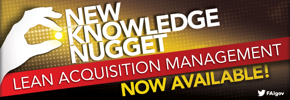 """New Knowledge Nugget, """"Lean Acquisition Management,"""" Now Available!"""