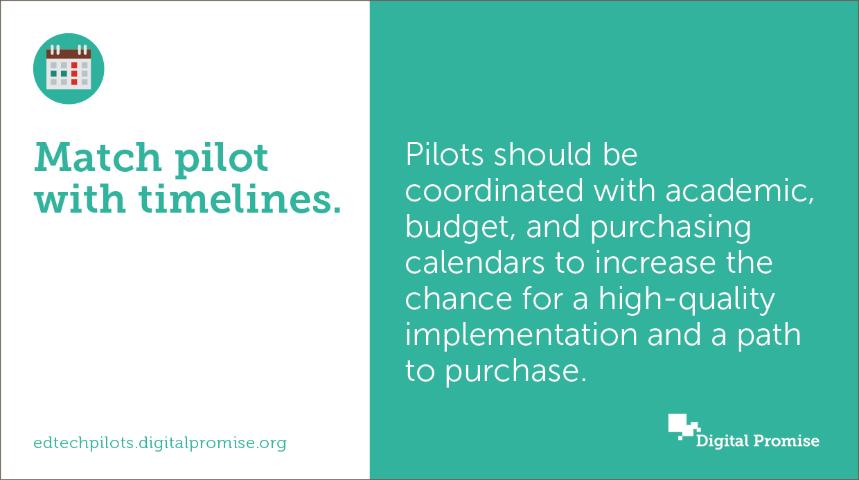 Our study found that both the time of year for running a pilot and the length of a pilot are important considerations that can impact the pilot itself and what happens next. Certain times of year may be better aligned with considerations like pilot...