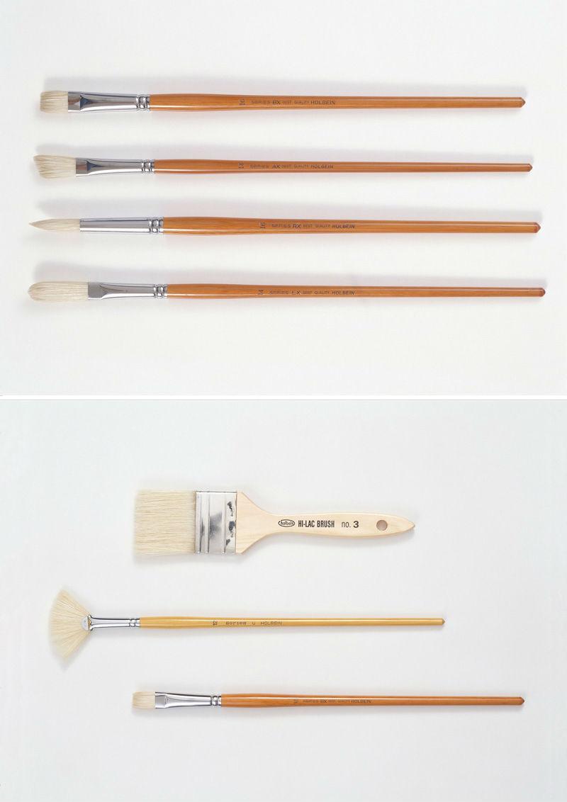 7支水粉笔笔刷高清图片