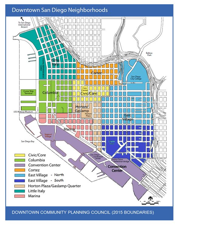 downtown san diego neighborhoods dcpc 2015 boundaries