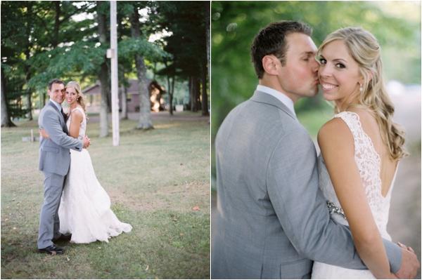bride and groom, Rustic Wisconsin Resort Wedding, Emily Steffen Photography