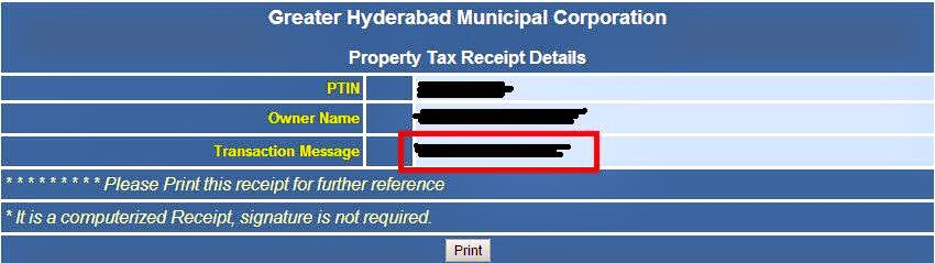 GHMC Transaction No