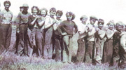 School children, Pibroch, when Lawrence was there