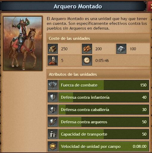 caracteristicas arquero montado guiatribalwars2