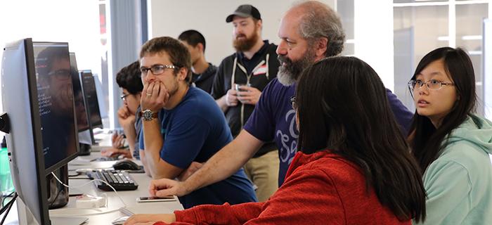 kearny high students at computer