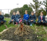 Jupiter Class have fun at Forest School