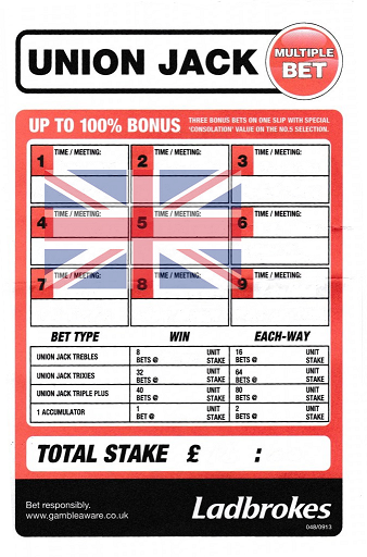 Union Jack Bet Slip