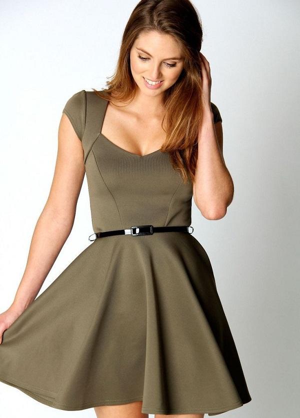 tek renk elbise modelleri