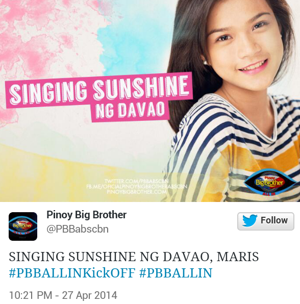 maris PBB All In Official Housemates (Photos)