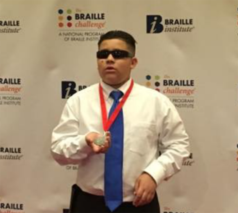 Arizona State Schools for the Deaf and the Blind student takes home national award at the 2016 Braille Challenge