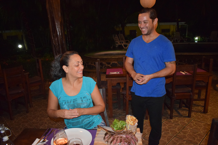 Allan Vargas serves dinner at the Hibiscus six days before his death.