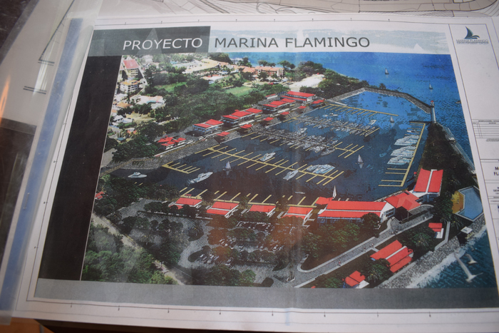 A rendering of the planned new Flamingo Marina.
