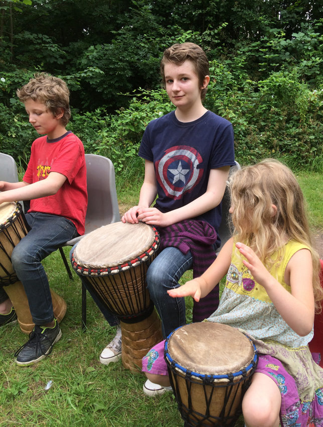 drumming trio
