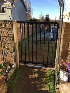 completed custom steel gate