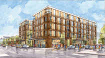 rendering of Oliver Station apartments