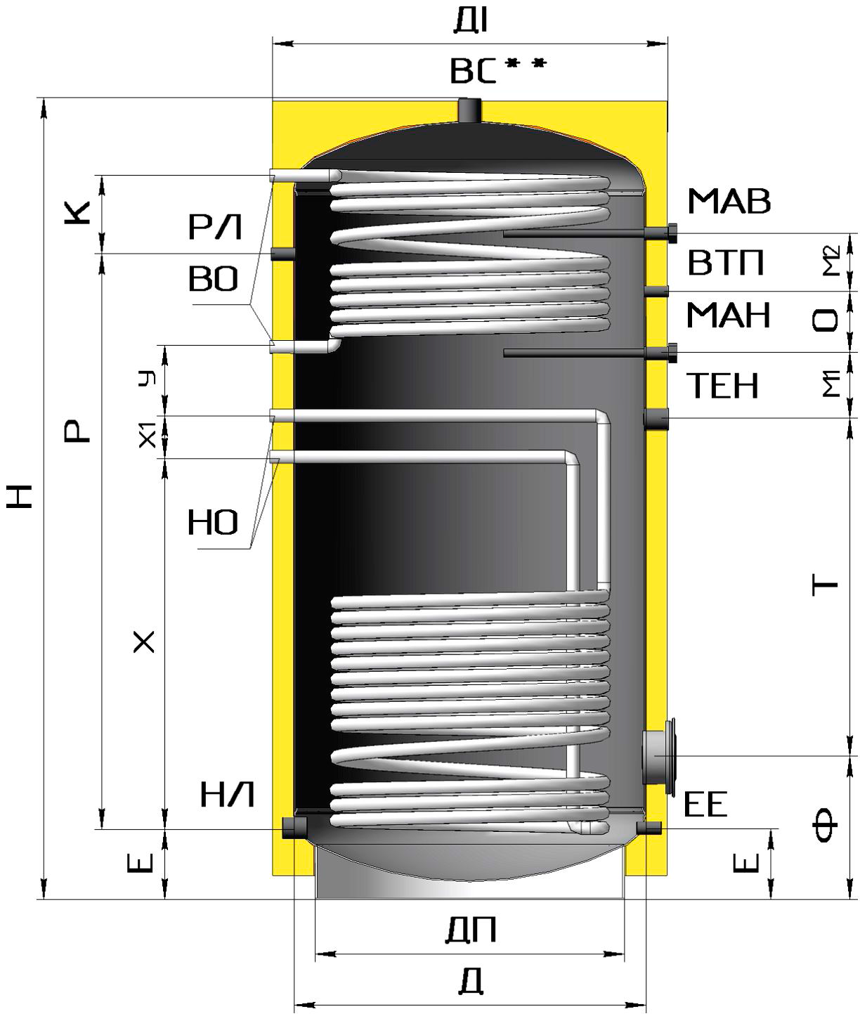 гвс схема обвязки баков аккумуляторов