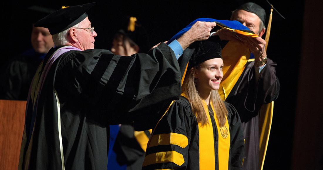 people at commencement