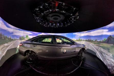 vehicle in driving simulator
