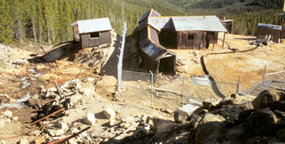 Photo of abandoned mine.