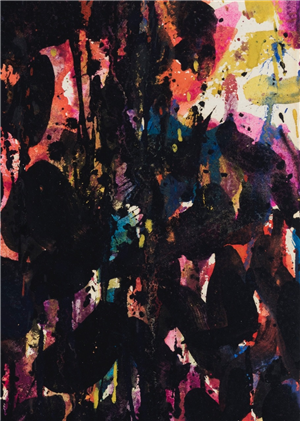Untitled (detail) by Sam Francis