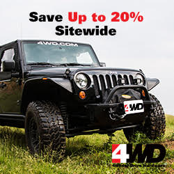 up to 20% off sitewide on 4WD.com Jeep superstore.