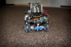 A robot built in Dr. Lobaton's lab